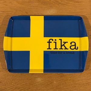 Small Tray decorated with the Swedish Flag.